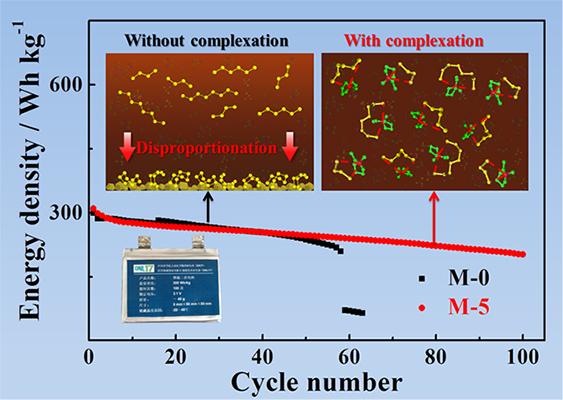 新型锂硫电池电解液:引入大体积阳离子抑制多硫化锂歧化